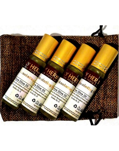 Biblical Anointing Oil - 4 pack plus bag